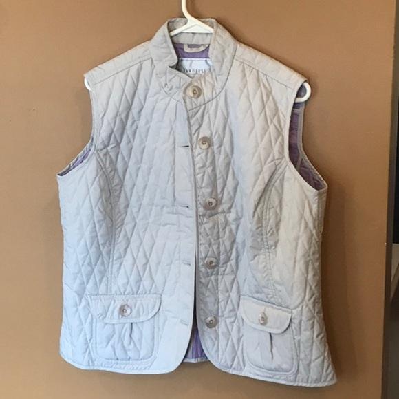 Van Heusen Jackets & Blazers - New Van Heusen Tan ladies vest button down